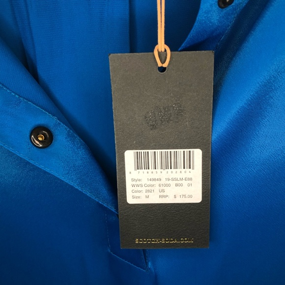 New With Tags BCBG MAXAZRIA Blue summer dress Off-Shoulder Size M RP $198